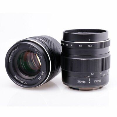 RISESPRAY 35MM f/0.95 Large Aperture Manual Lens III for Sony NEX Mount