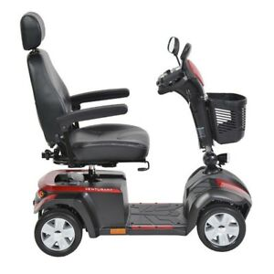 Drive Medical Ventura Power Mobility Scooter, 4 Wheels, Red&Blue