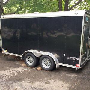 7x14 stealth v nose trailer