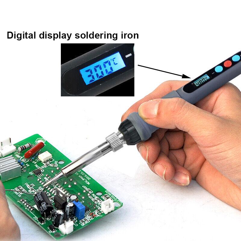 AC 100-220V Soldering Iron Pen 60W Digital Adjustable Thermostat Temperatur