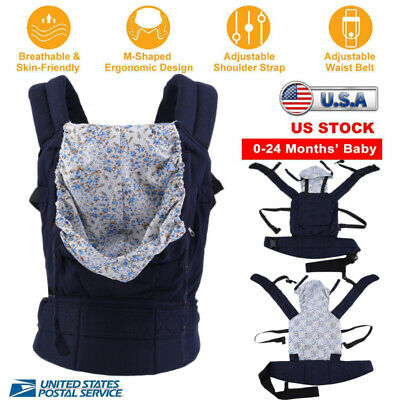 Newborn Infant Baby Carrier Safe Seat Ergonomic Adjustable Wrap Sling Backpacks!