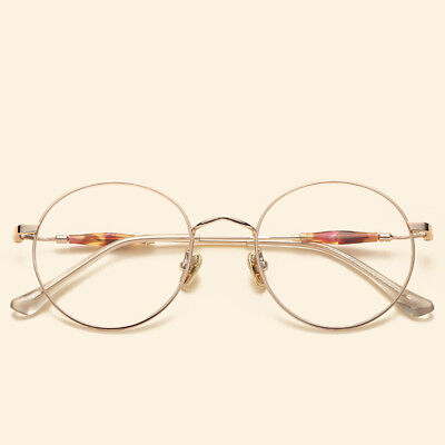 Oversized Korean Round Glasses Frame Clear Lens Unisex Retro Eyewear (Korean Eyewear)