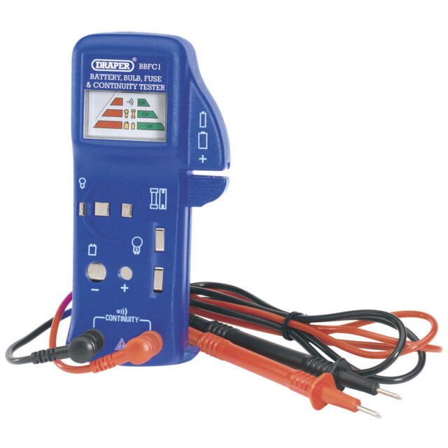 DRAPER BATTERY BULB FUSE AND CONTINUITY TESTER incl FREE DELIVERY(DRA57574)