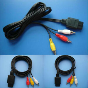AV TV RCA Video Cord Cable For Game cube/SNES GameCube/Nintendo