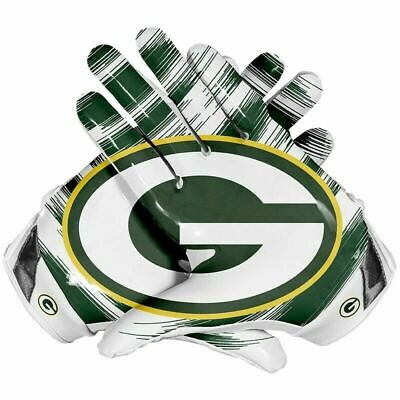 American Football Gloves Green Bay Packers Team NFL With Glue Grip good Control Grip Team Green