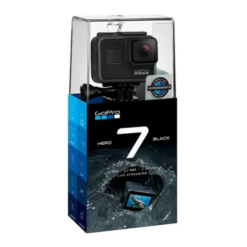 New Sealed GoPro HERO7 Black 12 MP Waterproof 4K Camera Touch Screen CHDHX-701