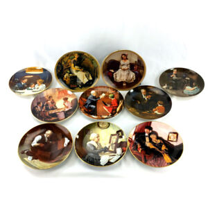 Lot 10 Norman Rockwell Collector Plates Knowles Vintage Lld Ed.