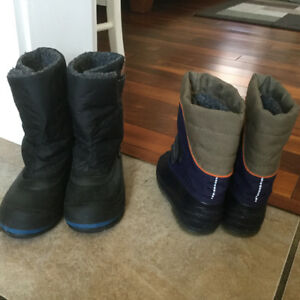 Great Condition toddler winter boots size 7 and size 9