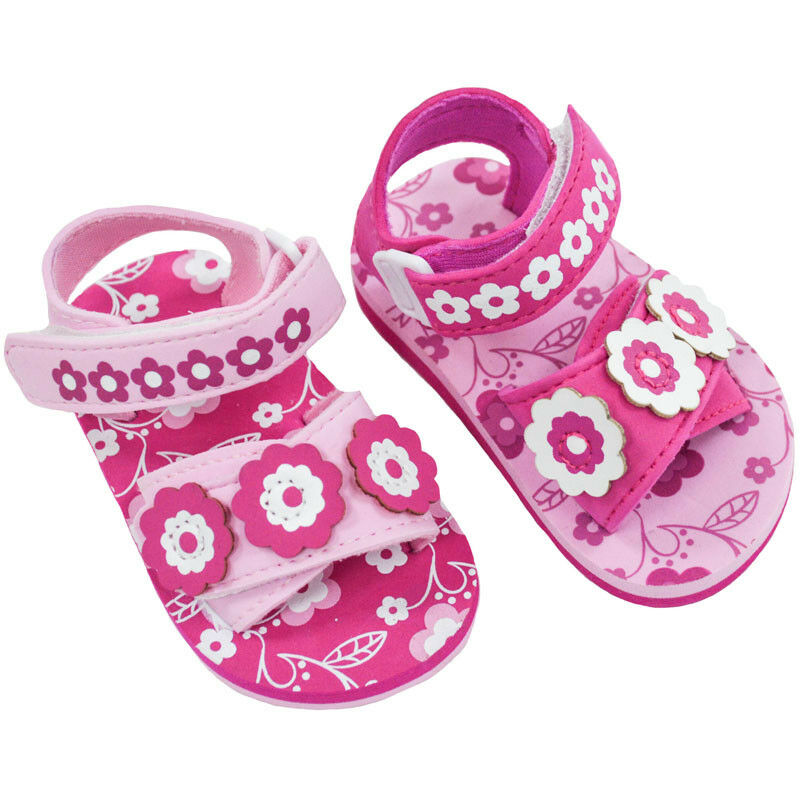Kids Girls Infants Flower Print EVA Sandals for Holiday/Beach Comfortable Shoes