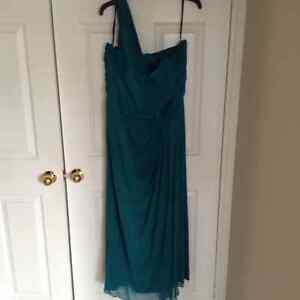 Plus Size Teal Evening Gown