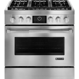 "Jenn air JGRP436WP Pro-Style 36"" Gas Range with MultiMode Convec"
