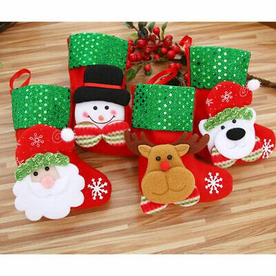 Christmas Party Hanging Decor Snowman Santa Claus Elk Sock Banner Xmas - Christmas Party Decor