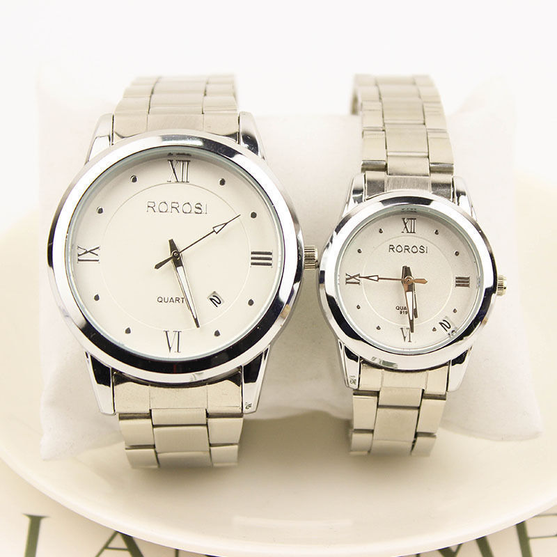 $8.99 - Fashion Men's Women Casual Luxury Date Stainless Steel Analog Quartz Wrist Watch