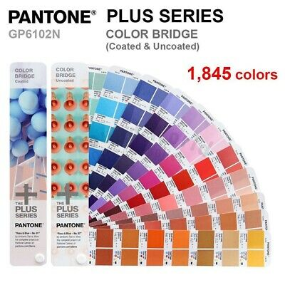 Pantone Color Guides Plus Series Color Bridge Gp1602n Coated Uncoated 1845