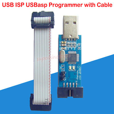 Usb Isp Usbasp Programmer With Cable For 51 Attiny Atmel Avr Atmega Fluxworkshop