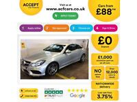 MERCEDES-BENZ E220 SILVER 2.1 CDI AMG NIGHT ED COUPE DIESEL FROM £88 PER WEEK!