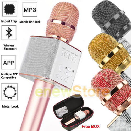 Q9 Wireless Microphone Speaker Bluetooth KTV Karaoke USB+Box
