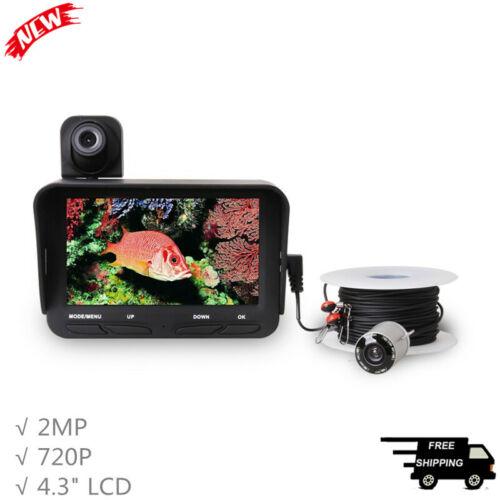 "Underwater Camera Fish Finder Fishing Camera Dual Cameras 2MP 140° 4.3"" LCD X2B"