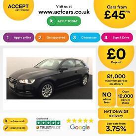 Audi A3 1.6TDI ( 105ps ) 2013MY SE FROM £45 PER WEEK!