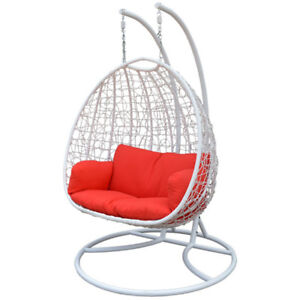 Double Hanging Outdoor Indoor Patio Furniture Chair