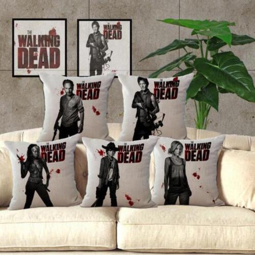 The Walking Dead Pattern Linen Throw Pillow Cases Sofa Pillo