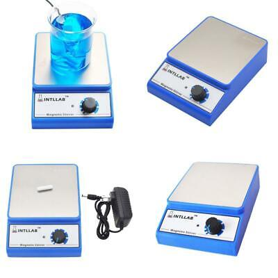 Intllab Magnetic Stirrer Stainless Steel Magnetic Mixer With Stir Bar No Hea...