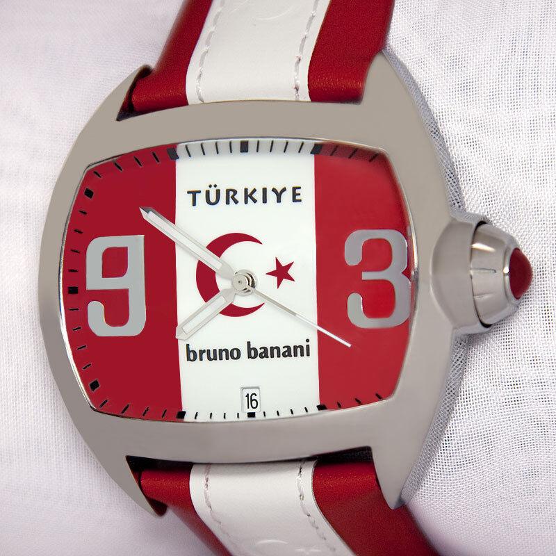 """BRUNO BANANI Herrenuhr Quarz 20563 """"Türkiye"""" """"Türkei"""""""