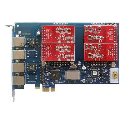 AEX410 4FXO module Asterisk card PCI-e card for freepbx elastix trixbox voip pbx