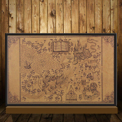 """20""""X13"""" Map of The Wizarding World of Harry Potter Poster Retro Wall Paper Decor"""