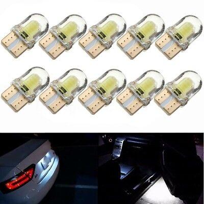 501 Leder (10x T10 194 168 501 LED CANBUS Weiß COB 8 SMD Kennzeichenbeleuchtung Birne Lampe)