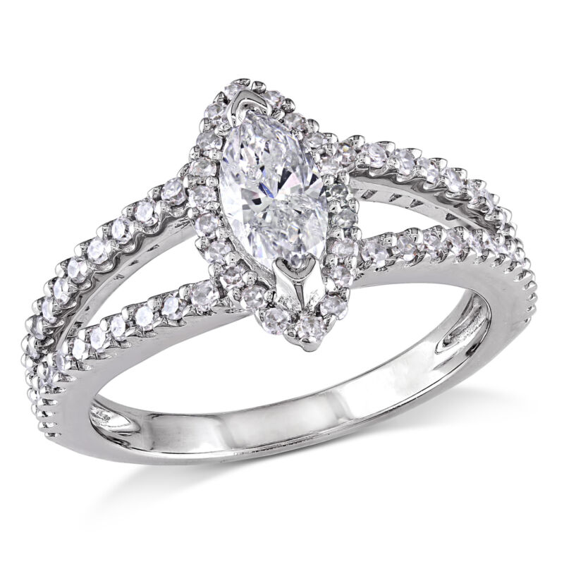 Amour 4/5 Ct Tw Diamond Engagement Ring In 14k White Gold