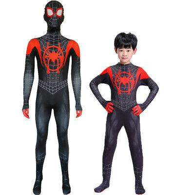Spiderman Costumes For Adults (Miles Morales Spider-Man Cosplay Costume Spiderman Zentai Suit  For Adult &)