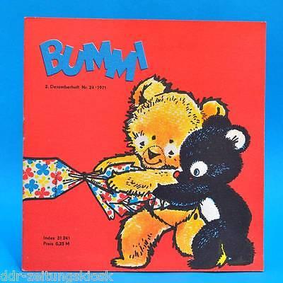 DDR Bummi 24/1971 Kinderzeitschrift 2. Dezemberheft  Geburtstag Bastelbogen B