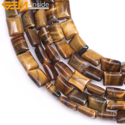 Natural Gemstone Rectangle Tiger Eye Beads For Jewelry Making 15