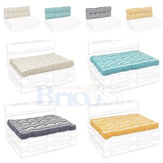 Cuscini per divano pallet Seduta Schienale cuscino imbottito vari colori 120×80