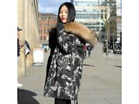 DAYMISFURRY-- AW18 Mink Fur Lined Military Parka with Raccoon Fur Hood