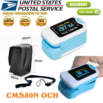 Oled Fingertip Pulse Oximeter Blood Oxygen Sensor Heart Rate Patient Monitorus