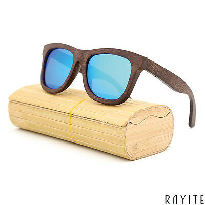 Rayite Unisex Zebra Wood Wooden Sunglasses Bamboo Men Women Polarized (Wooden Sunglasses India)