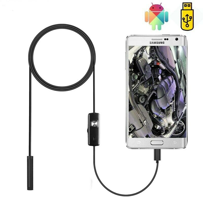 Endoscope Camera Flexible Waterproof Micro USB Inspection Bo