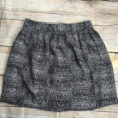 DKNY Womens Geometric Pattern Knee Length Skirt Size 8 Brown Beige