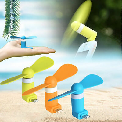 Mini Portable USB Fan For  Android iPhone USB Port Indoor Outdoor Cooling Fan