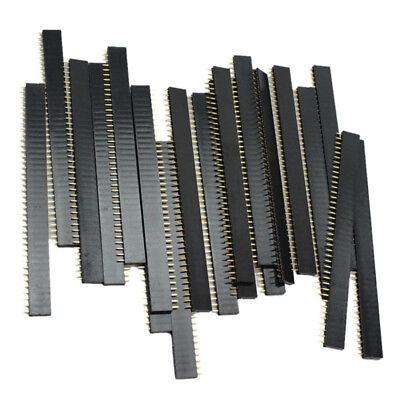 20 Pcs 40 Pin 2.54mm Single Row Straight Male Female Pin Header Strip