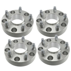"""4 x 50mm 2"""" 5 x 5.5 Hub Centric Wheel Adapters (Wheel Spacers)"""