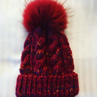 Gorgeous Handmade Winter Toques with Fur Pompoms!