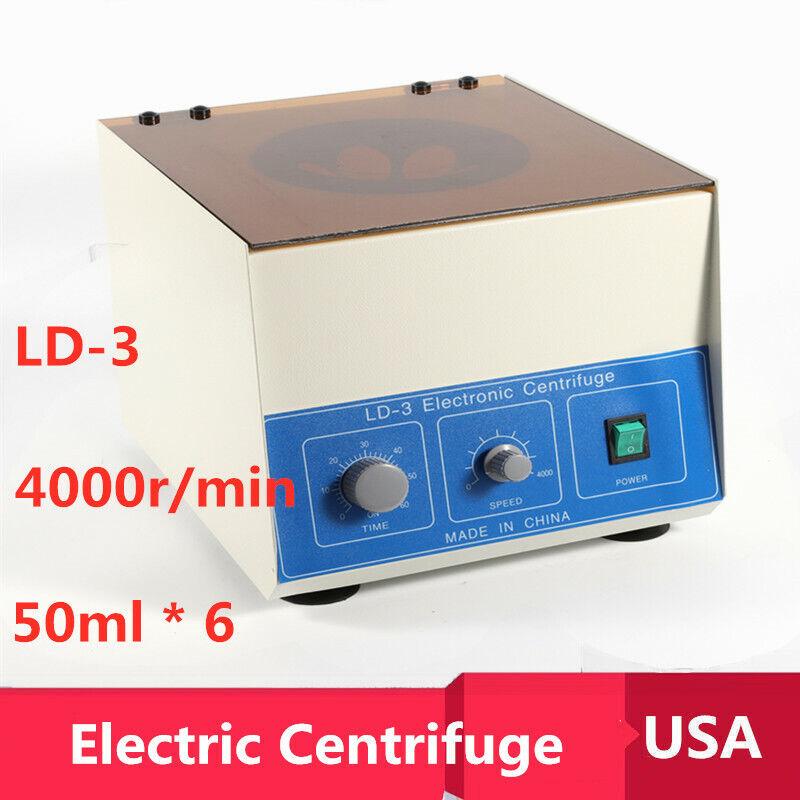 PRO 6*50ml Electric Benchtop Centrifuge Medical Practice 4000r/min Model LD-3