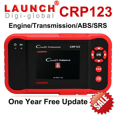 LAUNCH X431 CRP123 OBD2 OBDII Car Diagnostic Tool Scanner Engine A/T ABS SRS CVT