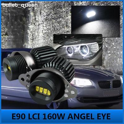 Light Bulb Rings - 160W BMW LED Angel Eyes Light Halo Ring Bulb For 2009-2011 E90 E91 LCI 328i 335i