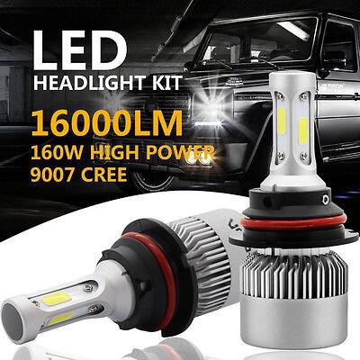 CREE COB 9007 HB5 160W 16000LM LED Headlight Kit Hi/Lo Power Bulbs 6500K White