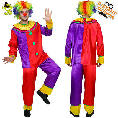 Funny Clown Adult Men Costume  Cute And Amusing Carnival Party  - Cute Mens Costumes