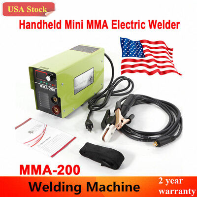 Handheld Mini Mma-200 Electric Welder 110v Inverter Welding Machine Tool New Usa